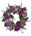"24"" Hydrangea Wreath purple"