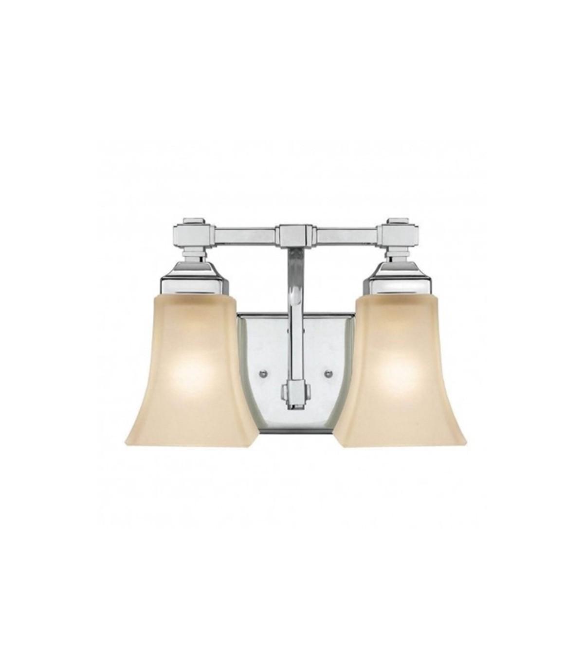 Hampton bay 2 light chrome vanity light fixture aloadofball Choice Image